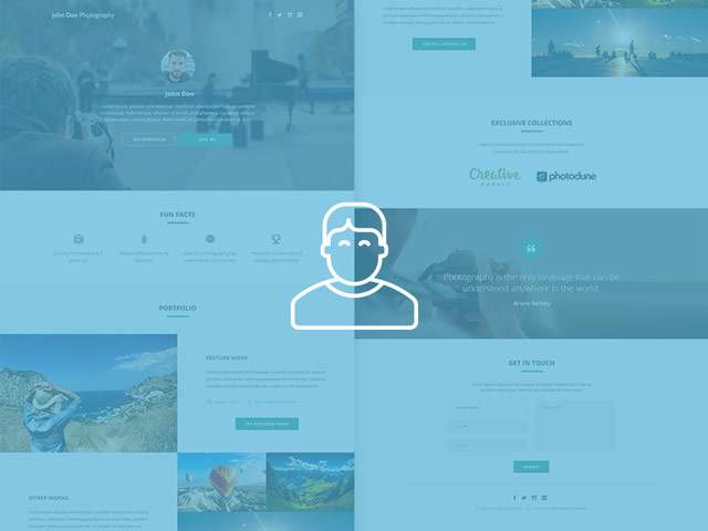 Grapher - photographer portfolio free PSD template