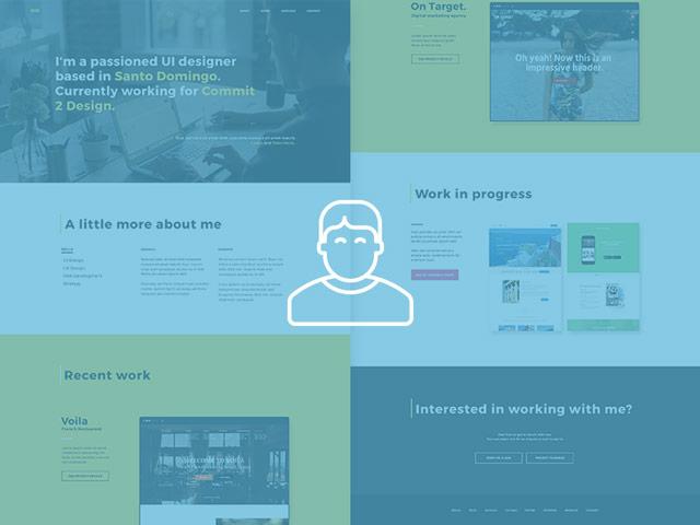 HR - Designer Portfolio PSD template