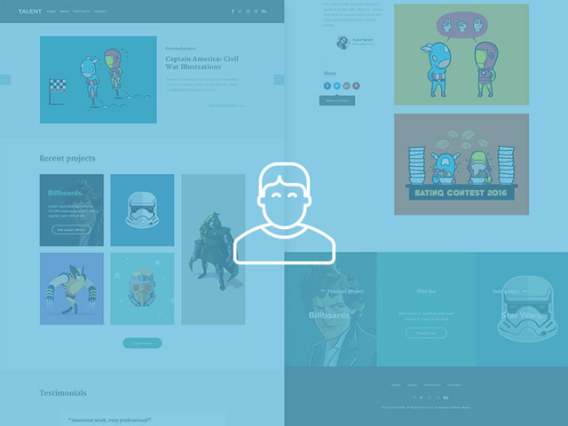 Talent - Illustrator portfolio PSD template