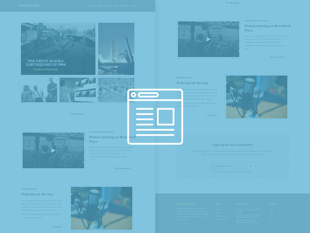 History Bits PSD web template preview